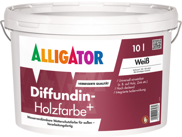 Alligator Diffundin-Holzfarbe+ Weiß