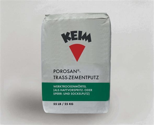 KEIM Porosan®-Trass-Zementputz