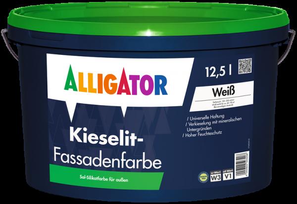 Alligator Kieselit-Fassadenfarbe Weiß